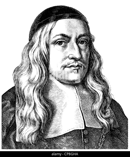 Hermann Conring, 1606 - 1681, a polymath and journalist, physician to Queen Christina of Sweden and Danish privy - Stock Image