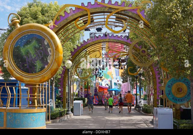 Disneyland, Hollywood Studios, California Adventure Park, Anaheim - Stock Image