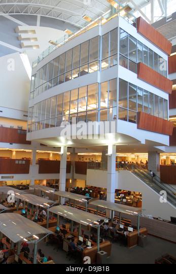Nevada Las Vegas UNLV University of Nevada campus school Lied Library interior - Stock Image