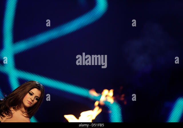 Contender Yonca during German TV casting show 'Popstars - Girls Forever' in Cologne, Germany, 09 December - Stock Image