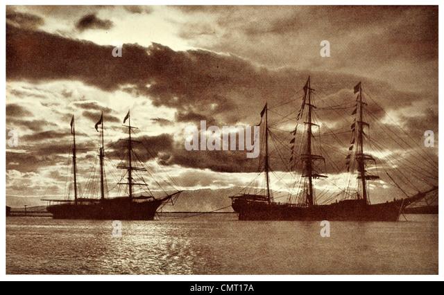 1924 Harbour of Honolulu U.S. state of Hawaii - Stock Image