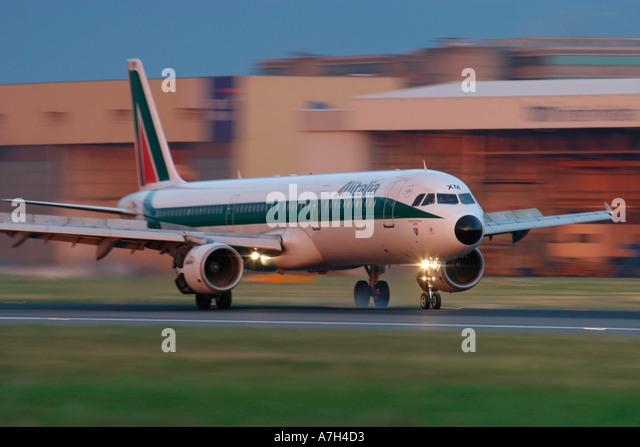 Alitalia Airbus A321 112 I BIXM London Heathrow - Stock Image