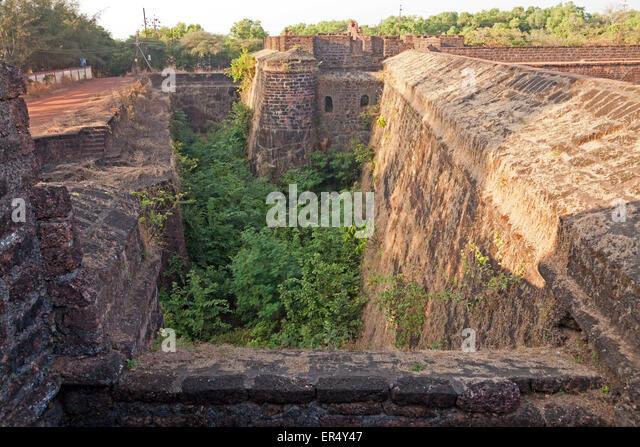 Aguada Fort  in  Candolim, Goa, India, Asia - Stock-Bilder