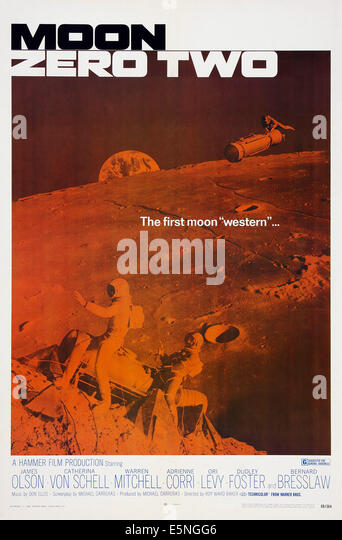 MOON ZERO TWO, US poster art, 1969 - Stock Image