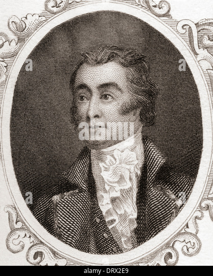 Francis Edward Rawdon-Hastings, 1st Marquess of Hastings, 1754 –1826. Irish-British politician and military officer. - Stock Image