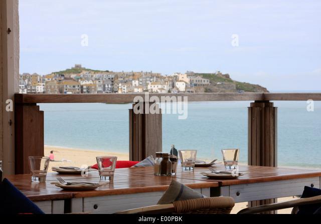 Popular beach cafe in uk stock photos popular beach cafe for 3 porthminster terrace st ives