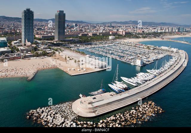 Aerial view of Barcelona - Stock Image