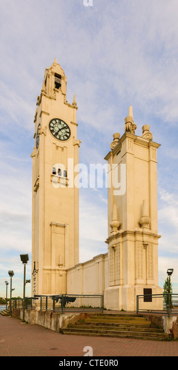 Vieux Montreal Sailors' Memorial Clock Tower - Stock Image