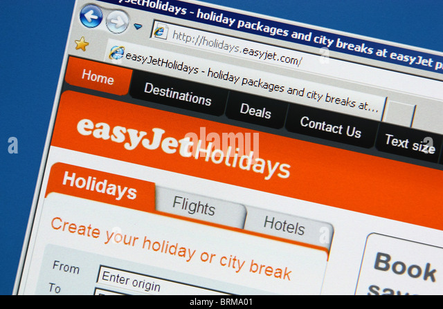 online travel vacation booking easyjetholidays - Stock-Bilder