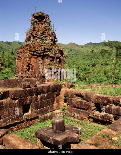 Ruins of the Cham sanctuary of My Son, dating from the 7th to 10th centuries, Vietnam, Indochina, Southeast Asia, - Stock-Bilder