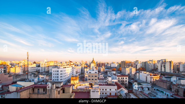 Early morning in Buenos Aires, Argentina - Stock Image