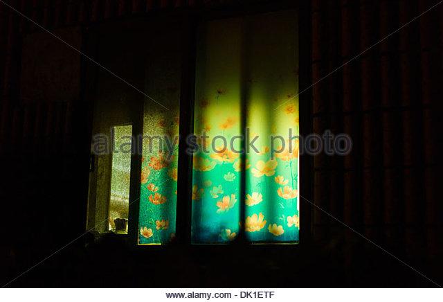 Sunshine Curtain, South Korea. - Stock Image