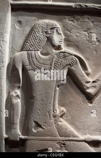 Egyptian hieroglyphics and papyrus stock photos