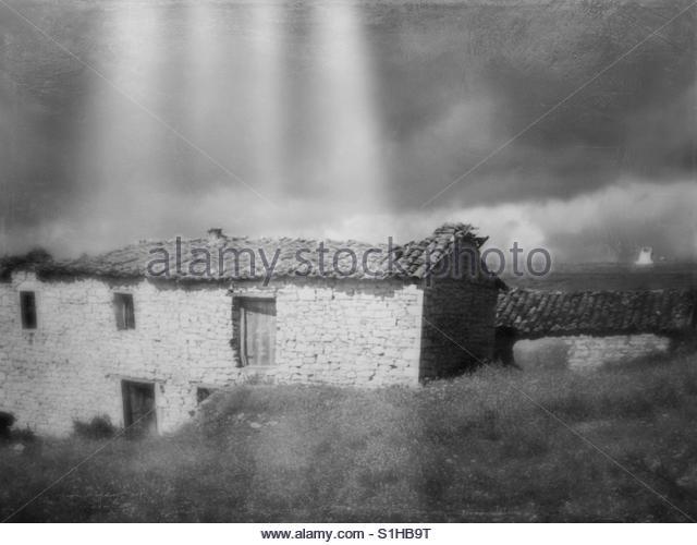 Abandoned old house - Stock Image