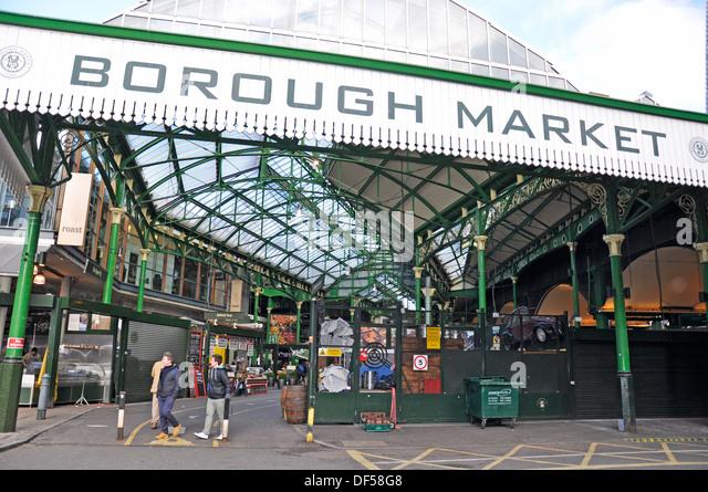 Borough Market (London's renowned food market of exceptional British and international produce). England, UK. - Stock Image