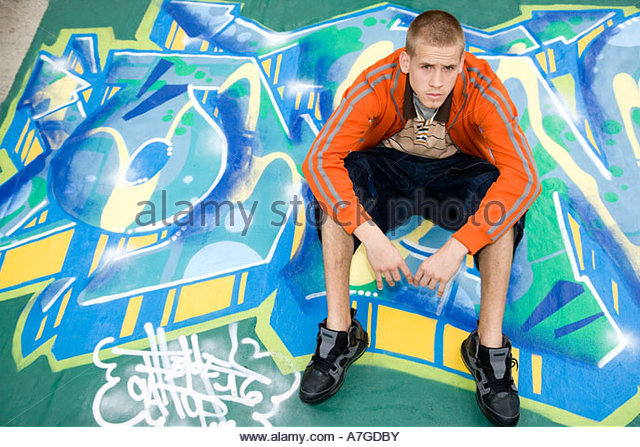 A teenage boy - Stock Image