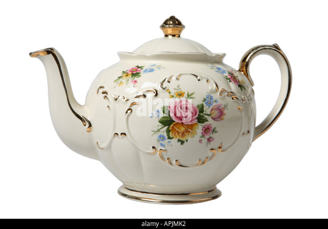 Antique Tea Pot - Stock Image