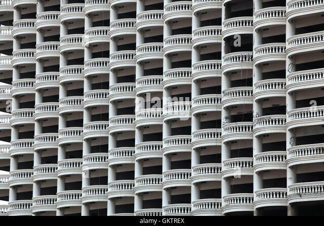Thailand, Bangkok, old abandon hotel - Stock Image