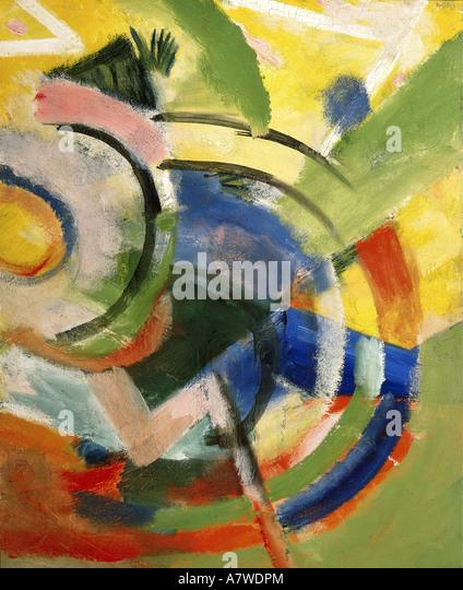 'fine arts, Marc, Franz (1880 - 1916), 'Kleine Komposition IV', painting, 1914, Franz Marc Museum, Kochel - Stock Image