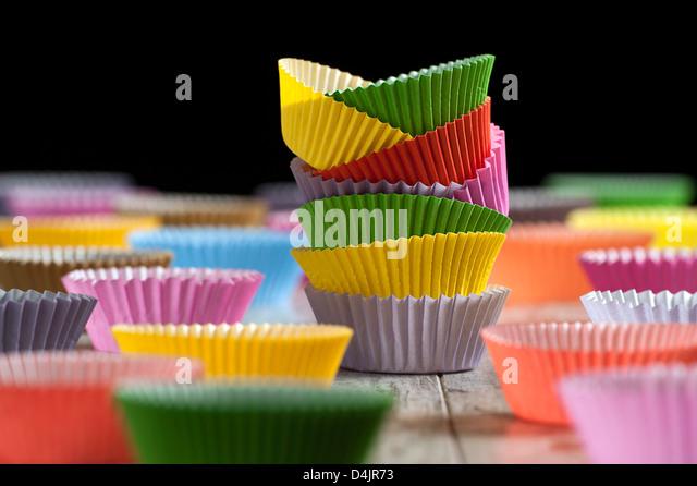 Paper Cupcake Liners. - Stock Image