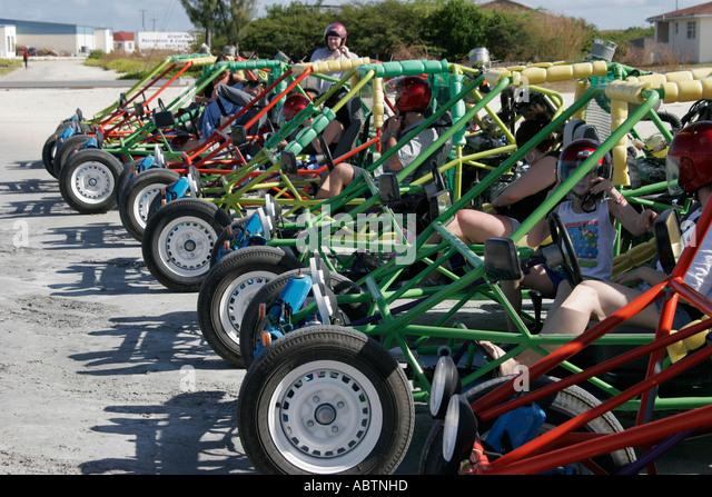 Grand Turk Cockburn Town dune buggy tour - Stock Image
