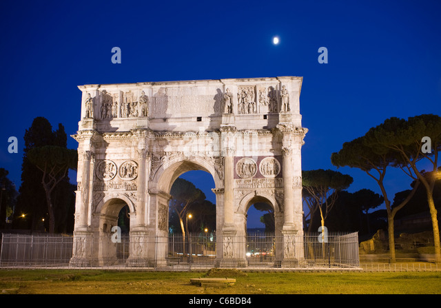 The Arch of Constantine, Rome, Italy. - Stock Image