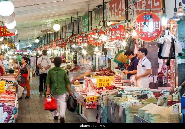 South Korea, Seoul, Yangnyeong Market, market based in the 1960s - Stock Image