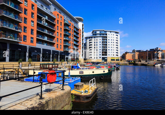 Clarence Dock, River Aire, Leeds, Yorkshire, England - Stock Image