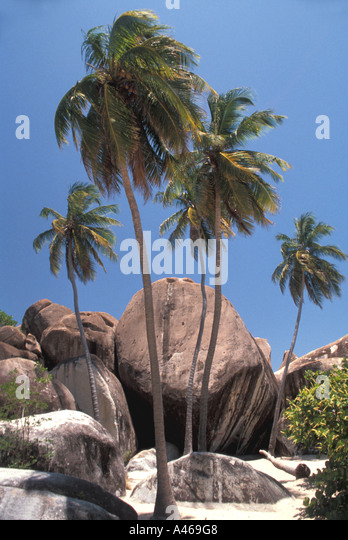 British Virgin Islands The Baths - Stock Image