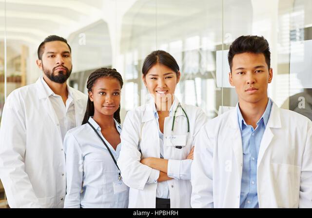 Interracial doctors in hospitals