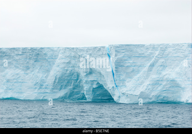 Iceberg in the southern Atlantic ocean - Stock Image