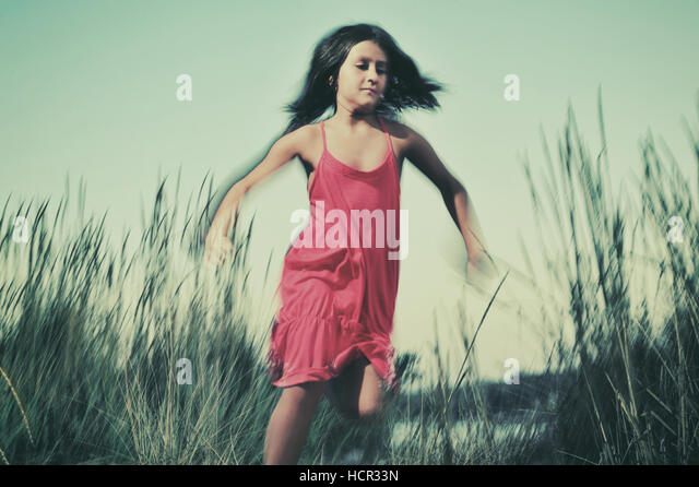 Young girl in nature - Stock Image