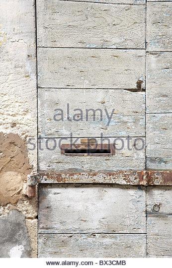 detail of wooden door - Stock Image