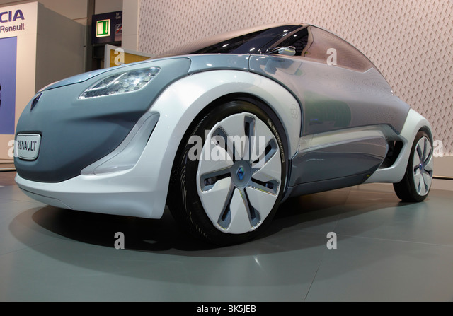 RENAULT ZOE Z.E. CONCEPT an electric car at the Auto Mobil International (AMI) - Motor Show 2010 in Leipzig, Germany - Stock Image
