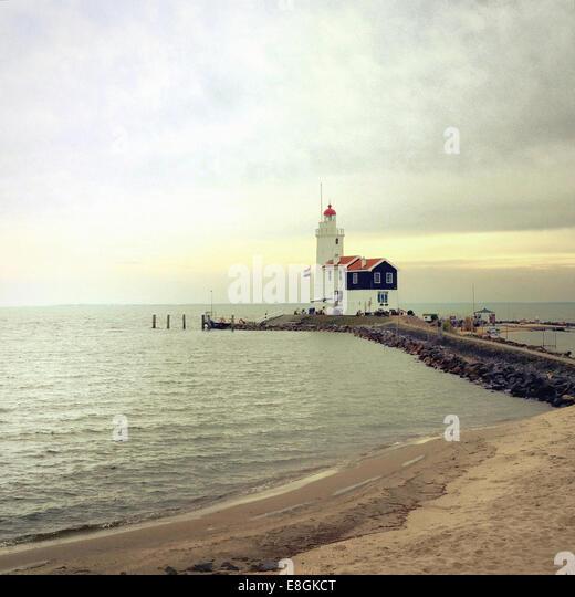 Paard van Marken Lighthouse, Marken, Holland - Stock Image