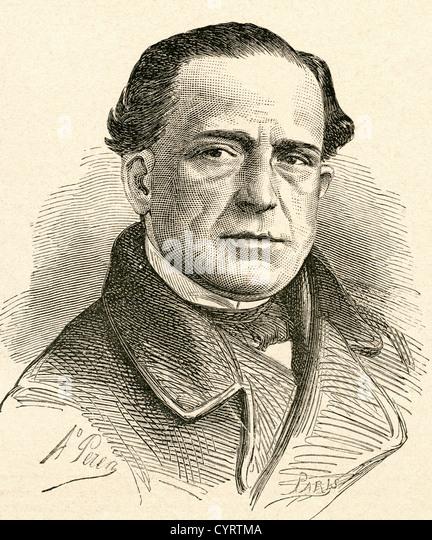 Julián Romea Yanguas, 1813 - 1868. Spanish actor. - Stock-Bilder