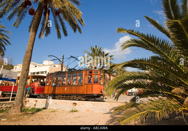 Mallorca Port Soller historical railway - Stock Image