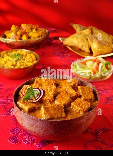 INDIAN  SHAHI PANEER CURRY - Stock Image