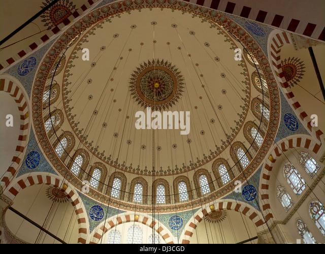 Dome, Rustem Pasha Mosque, Istanbul, Turkey - Stock Image