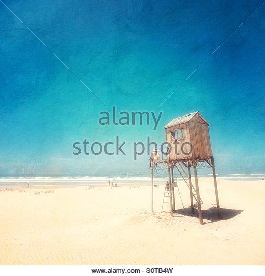 Lifeguard Station, Kenton on Sea, South Africa. - Stock Image