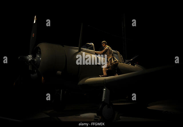 The Army chooses a dive bomber. The Douglas A-24 was used in Southwest Pacific combat in 1942. - Stock Image