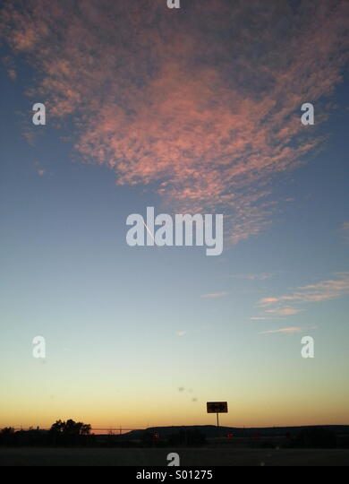 Sunset sky - Stock Image