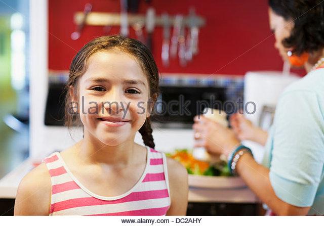 Girl looking at camera - Stock-Bilder