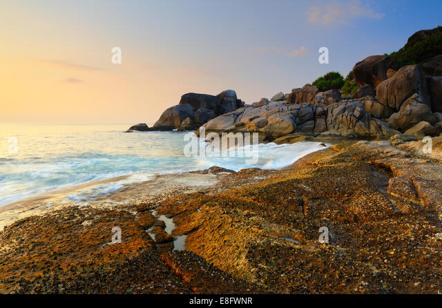 Thailand, Beautiful seascape of Similan island shore - Stock Image
