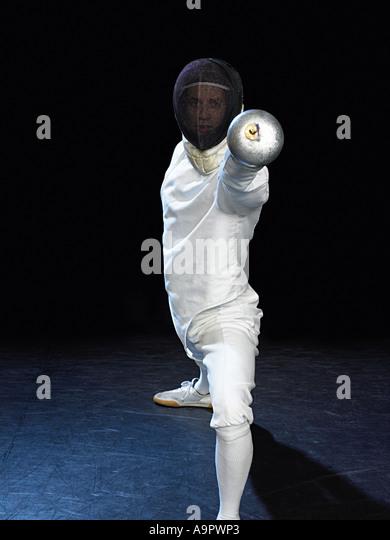 Fencer - Stock Image