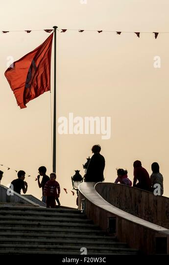 Tunisia, Tunis, downtown, Place de la Kasbah at the border of old town medina - Stock Image
