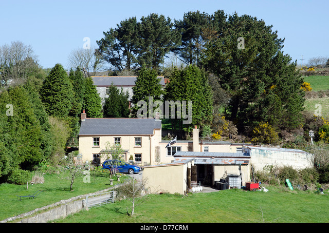A cottage in a rural location near Redruth, Cornwall, UK - Stock Image