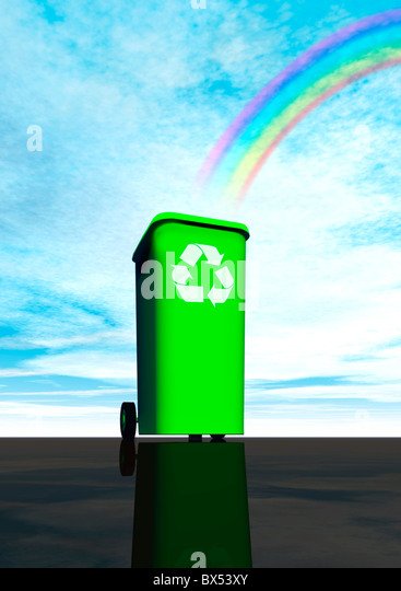 Recycling, artwork - Stock Image