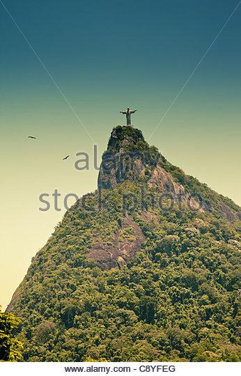 Corcovado Rio De Janeiro Brazil - Stock Image