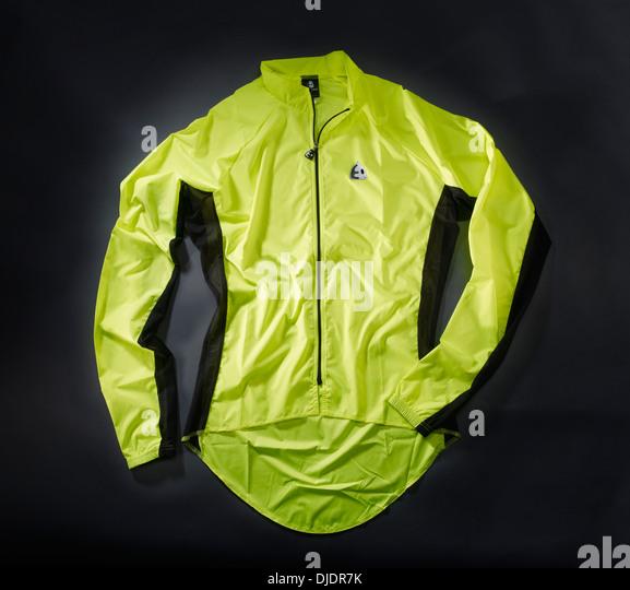 Lightweight waterproof cycling jacket - Stock Image